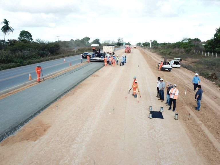 DNIT segue com as obras na Reta Tabajara