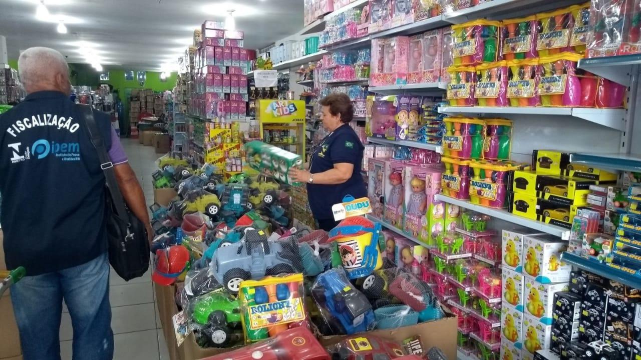 Operação 'Dia das Crianças': IPEM fiscaliza brinquedos em Natal e Mossoró