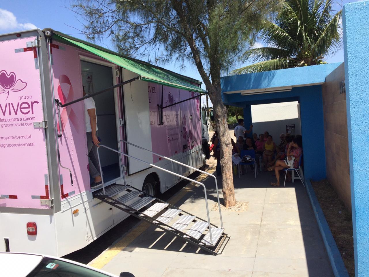 Zonas Sul e Leste de Natal recebem unidade móvel de mamografia