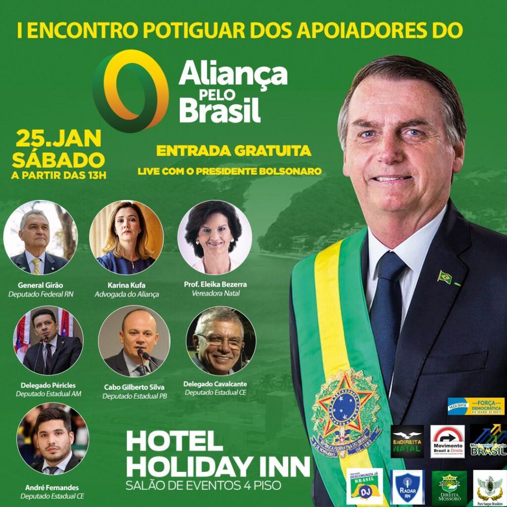 Bolsonaro vai promover o 'Aliança pelo Brasil' em live com apoiadores do RN