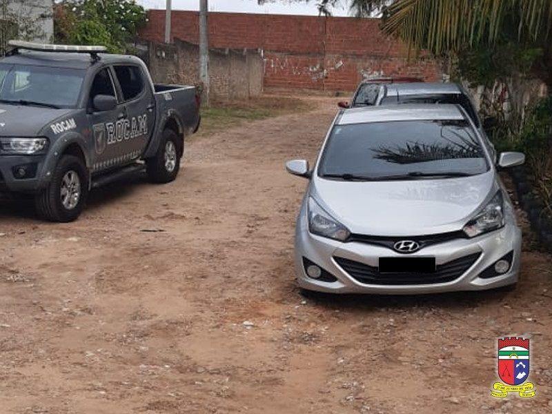 ROCAM recupera veículo roubado e prende homem após tentativa de homicídio