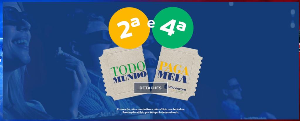 Moviecom do Praia Shopping libera meia entrada em três dias da semana