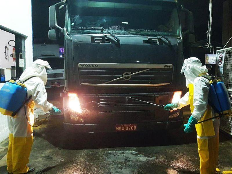 Ceasa realiza higienização de caminhões como medida de prevenção ao coronavírus