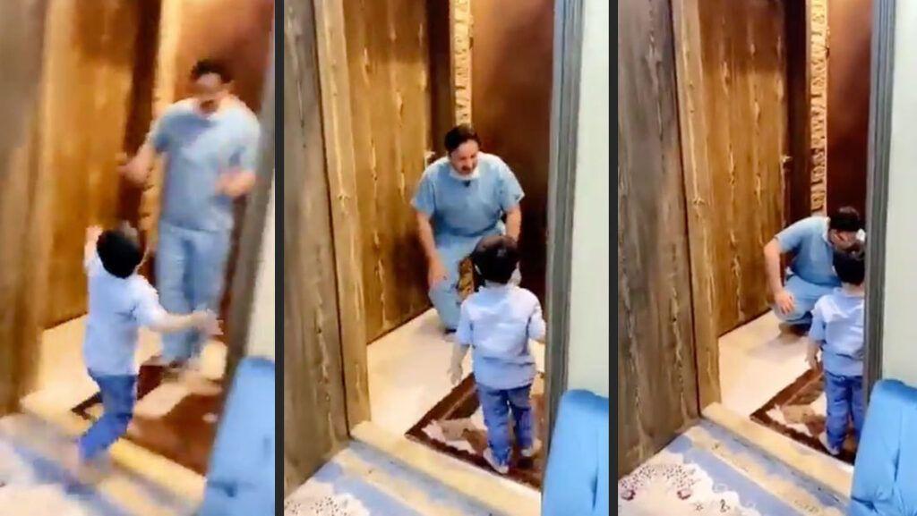 Linha de frente no combate ao coronavírus, médico chora por não poder abraçar filho ao chegar em casa