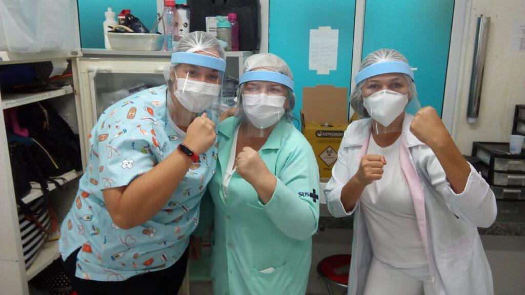 Servidores da UPA Satélite criam EPI's para se protegerem do coronavírus