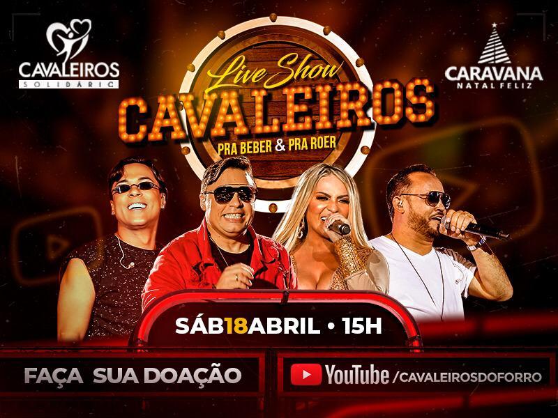 Cavaleiros do Forró realiza live solidária em parceria com a Caravana Natal Feliz