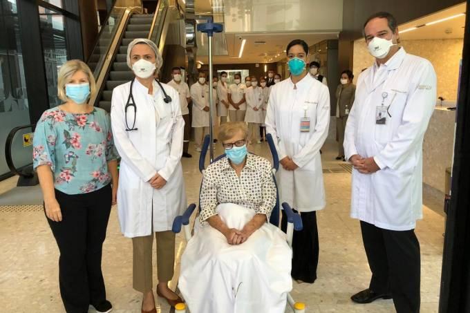 Idosa de 97 anos é a paciente mais velha do Brasil a ser curada do coronavírus Gina Dal Colleto
