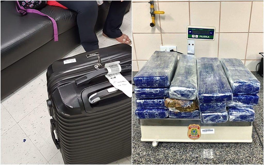 PF prende passageira com quase 15 kg de maconha no aeroporto de Natal