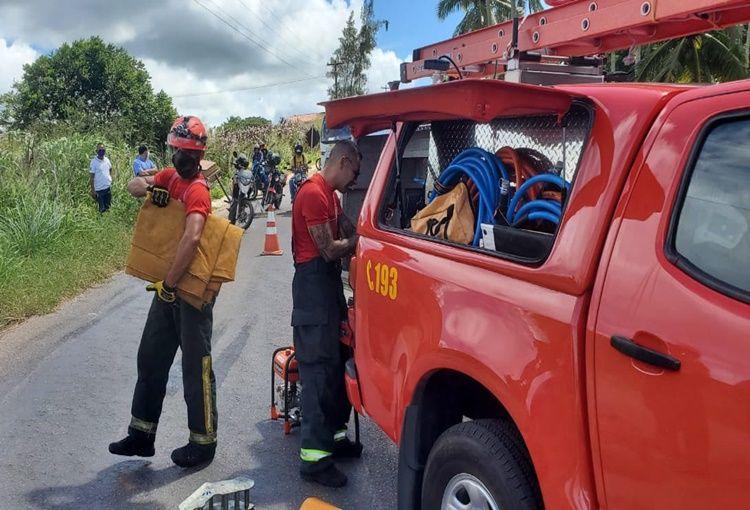 Bombeiros resgatam mulher presa às ferragens em Nísia Floresta