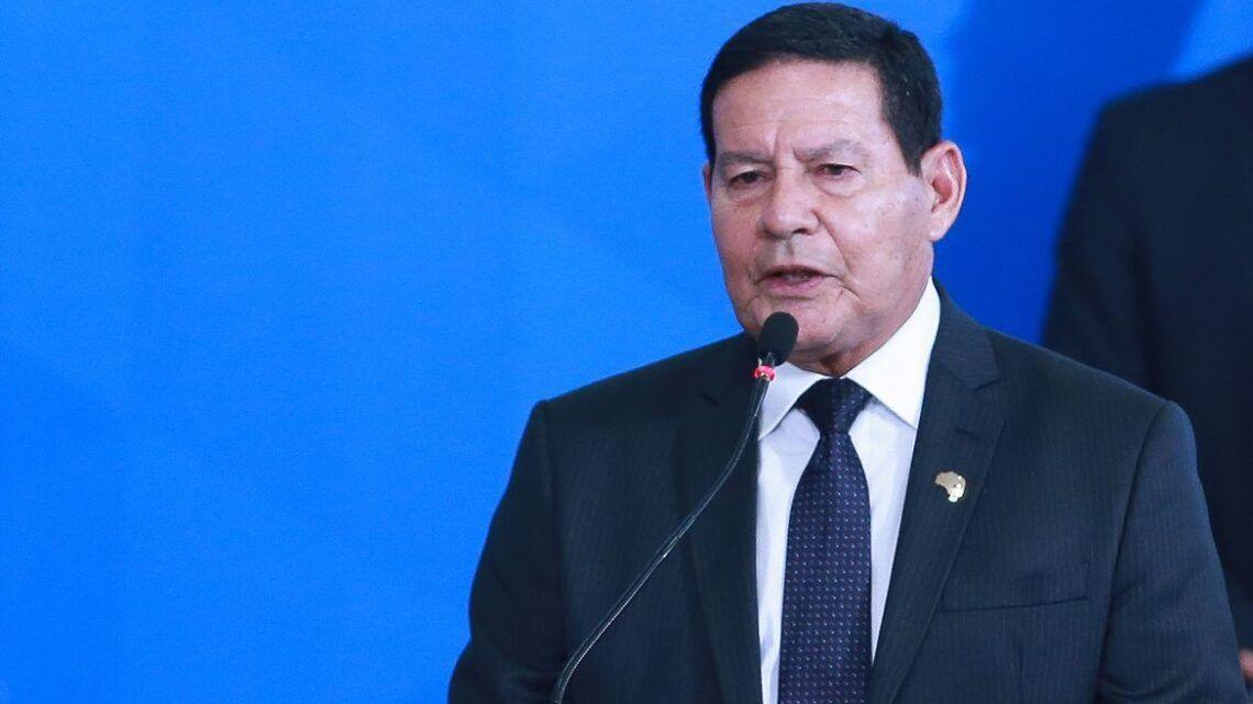 Exame de vice-presidente Mourão dá negativo para Covid-19