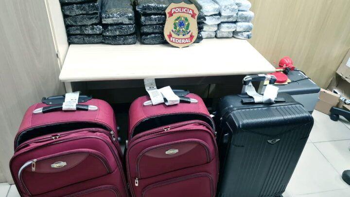 PF faz apreensão recorde de maconha no aeroporto de Natal