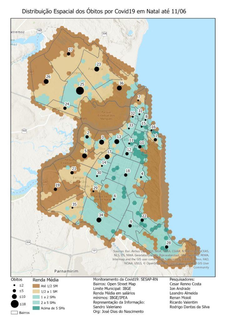 Guarapes e Redinha são os bairros com maior índice de letalidade por covid-19