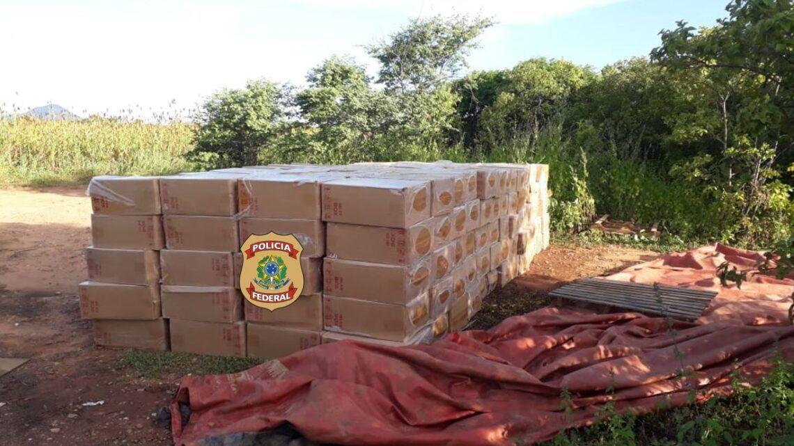 PF apreende mais de 1.300 caixas de cigarros contrabandeados no interior do RN