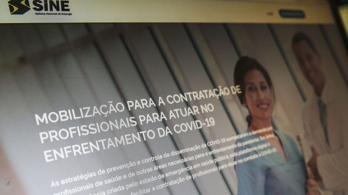 'Portal Sine Saúde' articula vagas para profissionais durante pandemia
