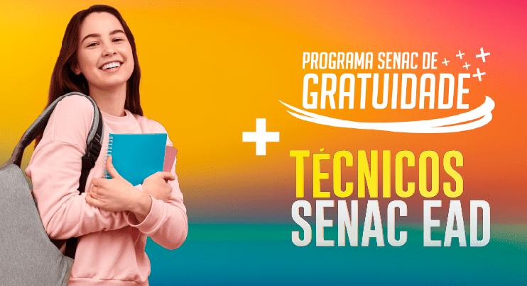 Senac-RN abre 480 vagas para Cursos Técnicos EAD de forma gratuita