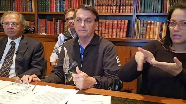 Auxílio deve ter novas parcelas de R$ 500, R$ 400 e R$ 300, diz Bolsonaro