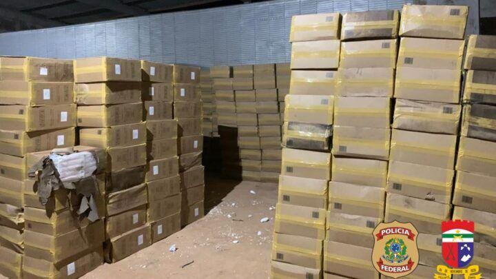 PF e PM fazem apreensão de 900 caixas de cigarros contrabandeados em Mossoró
