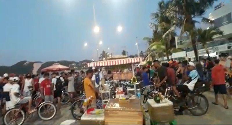 aglomeração praia de ponta negra natal covid 19