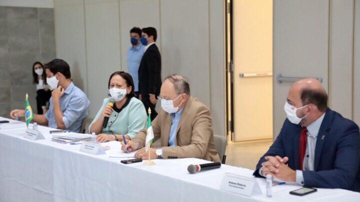 Fátima reúne deputados e senadores para cobrar permanência da Petrobras