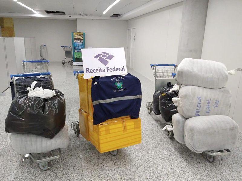 Tributação e Receita Federal apreendem R$ 106 mil em mercadorias no Aeroporto de Natal