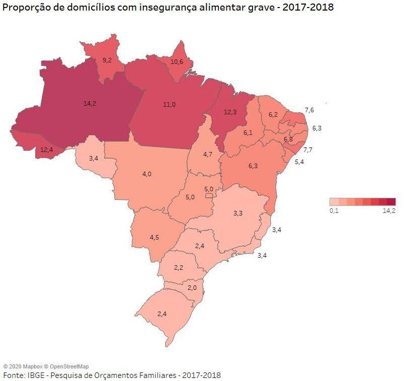 Fome cresce e infelizmente atinge 81 mil casas potiguares