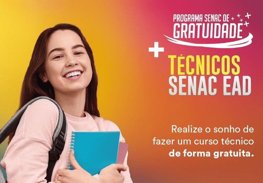 Senac-RN oferece mais 630 vagas gratuitas para cursos técnicos EAD