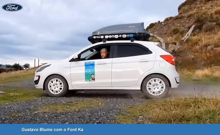 Aventureiro chega à Argentina com seu Ford Ka 1.0 transformado em motorhome