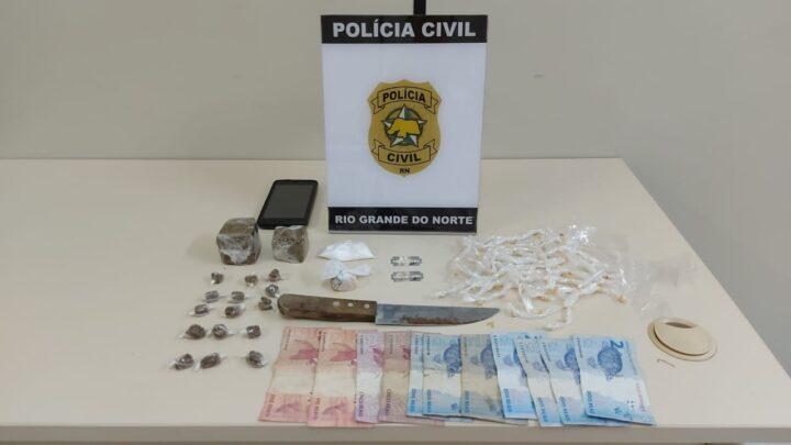 Polícia Civil prende suspeito por tráfico de drogas em Parnamirim