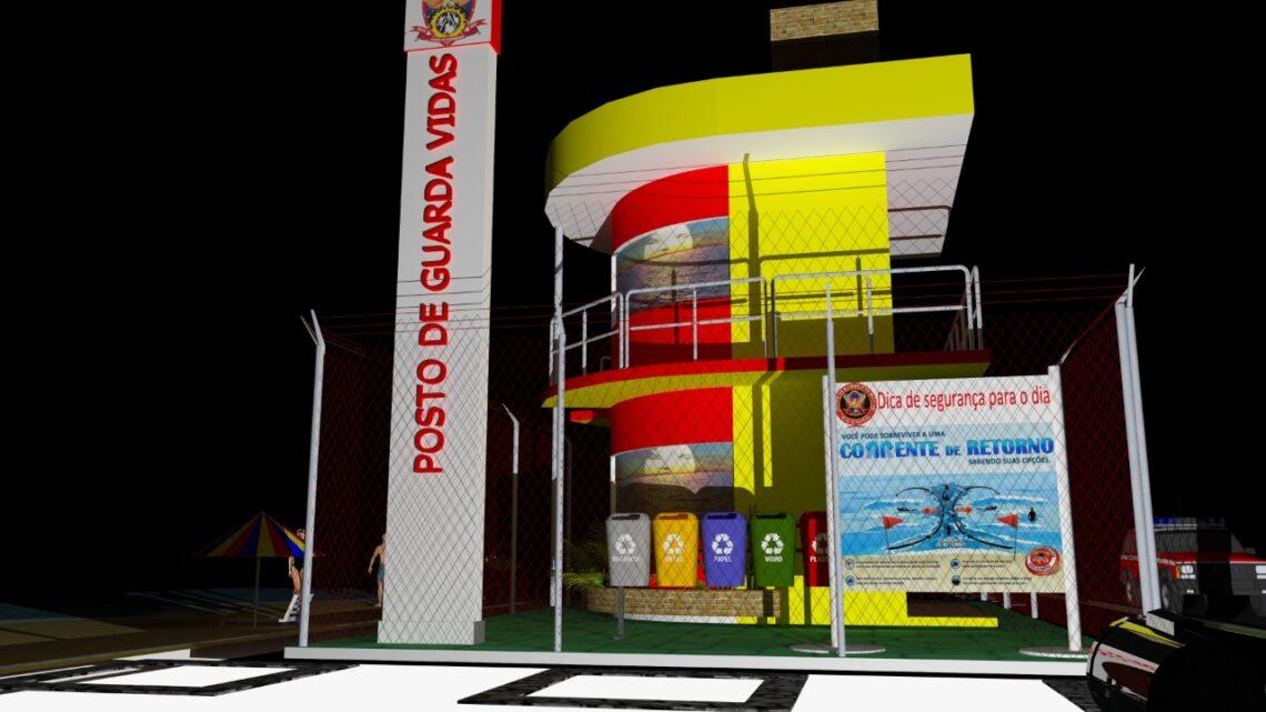 Governo assina ordem de serviço para construção de 2 postos de guarda-vidas