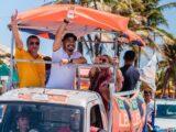 Leo Souza faz a maior carreta de candidato a vereador de Natal