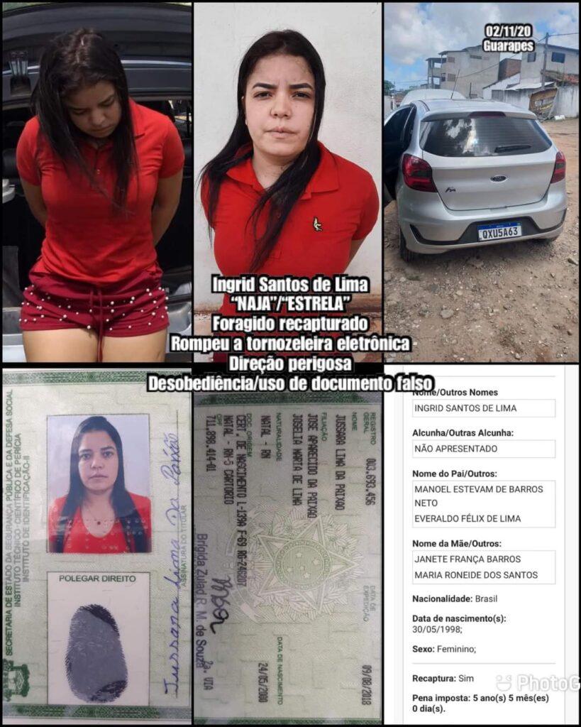 PM prende suspeita de participar do assassinato de Uber em Natal Ingrid Santos de Lima
