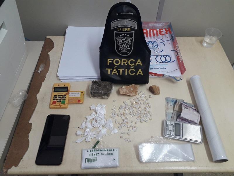PM prende suspeitos de tráfico de drogas em Parnamirim