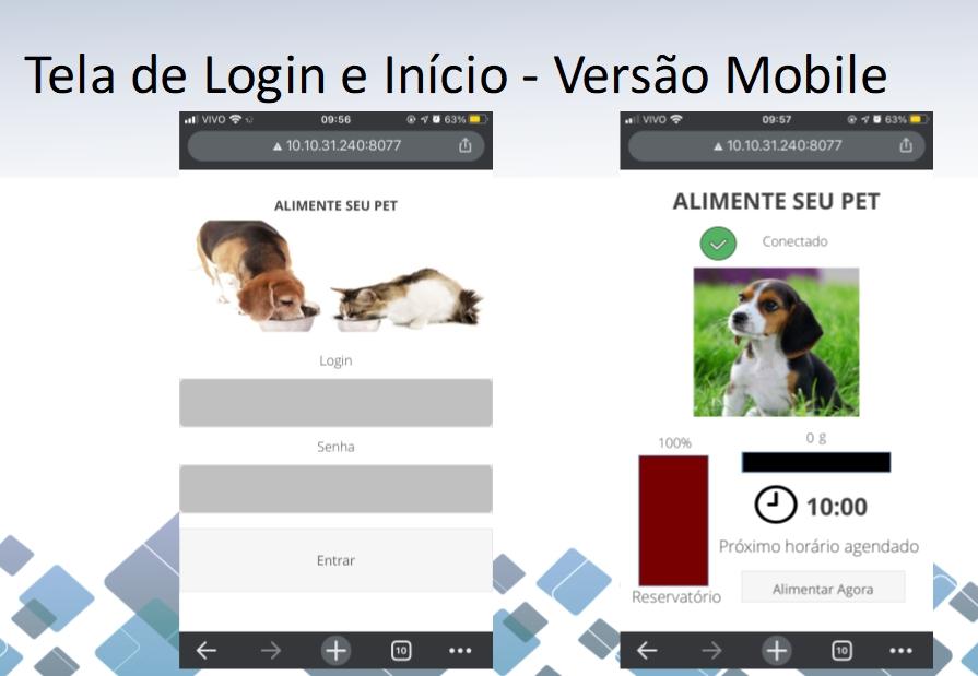 Estudante projeta dispositivo para alimentar cães e gatos controlado por aplicativo