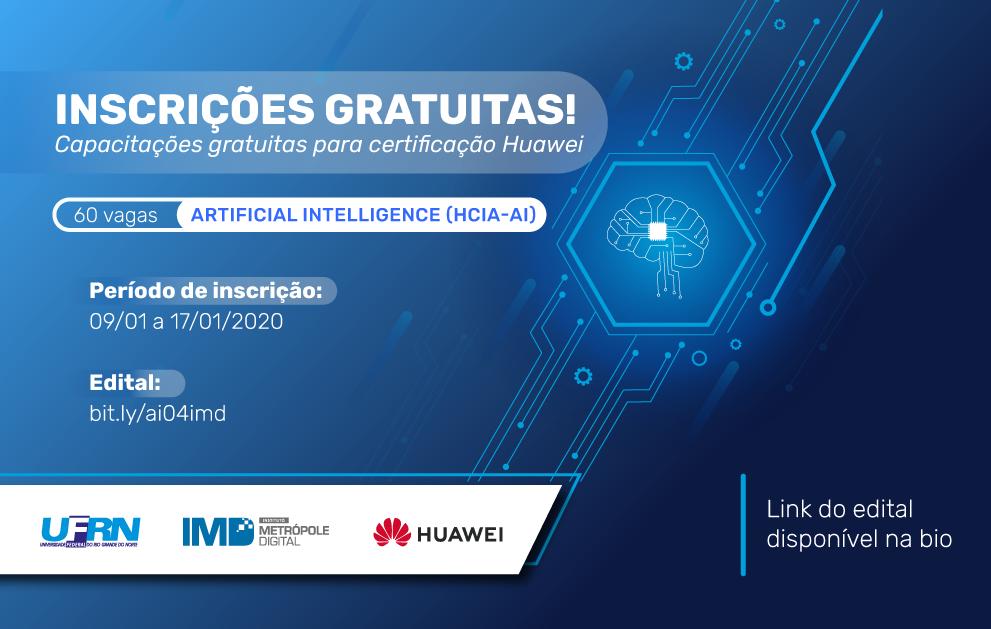 Metrópole Digital abre inscrições para curso de Inteligência Artificial