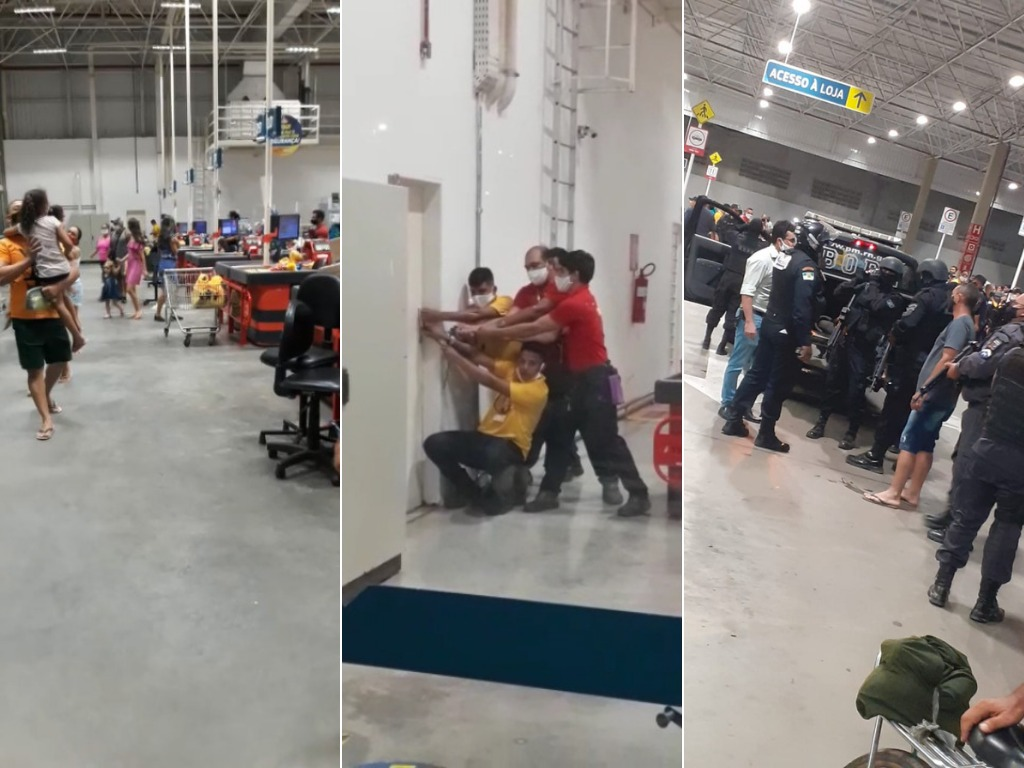 Bandido invade Assaí Atacadista em São Gonçalo e faz um refém