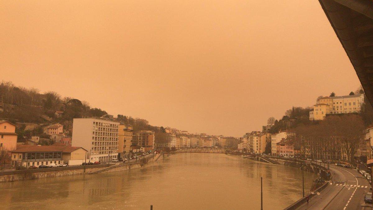 Chuva com areia do Saara chega a partes da Suíça e da França