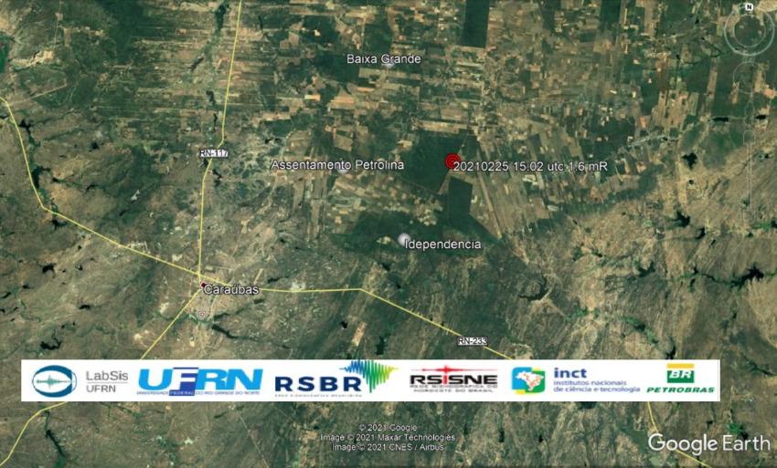 Novo tremor de terra é registrado no município de Caraúbas