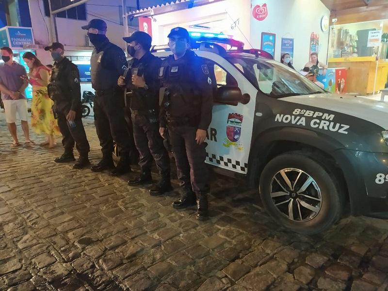 Para evitar aglomerações em Pipa, reforço na segurança deve seguir até domingo