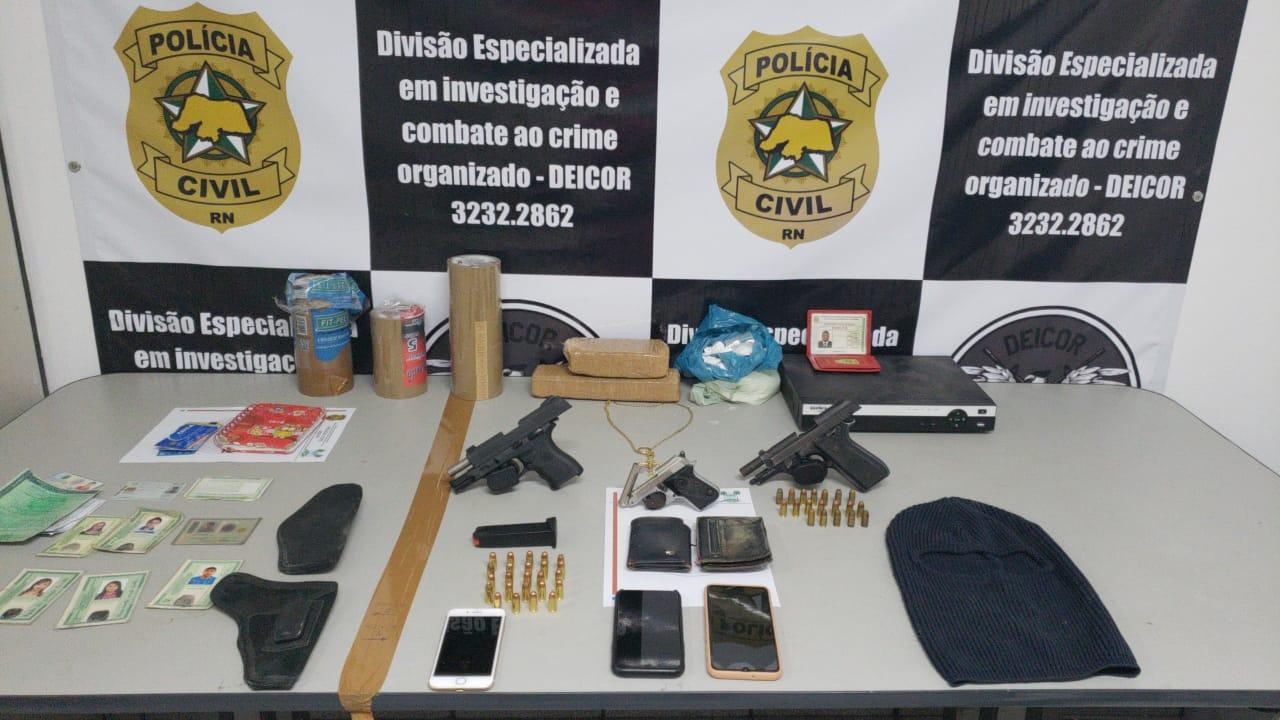 Polícia Civil prende 10 suspeitos de integrarem organização criminosa no RN