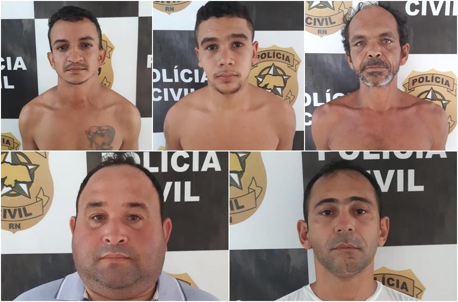 Polícia Civil prende 5 pessoas por roubos em propriedades rurais do RN