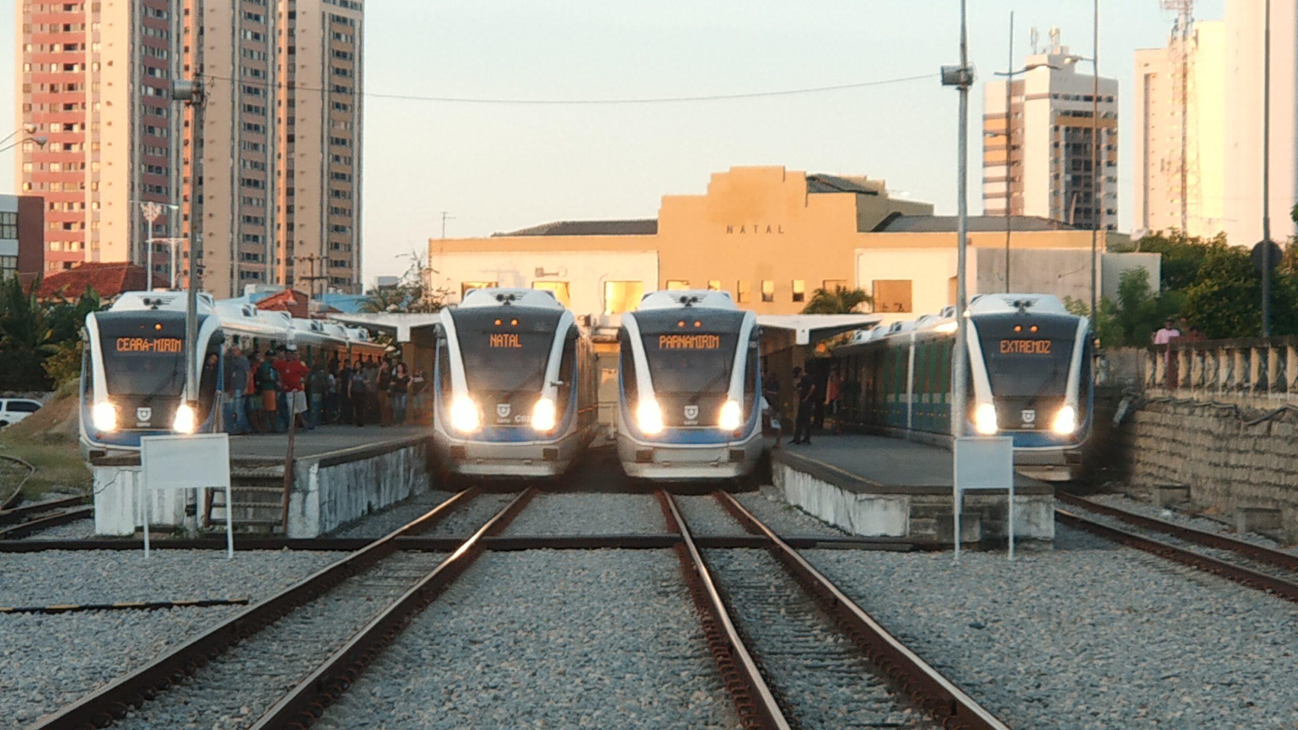 Trens urbanos de Natal irão circular normalmente entre os dias 15 e 17