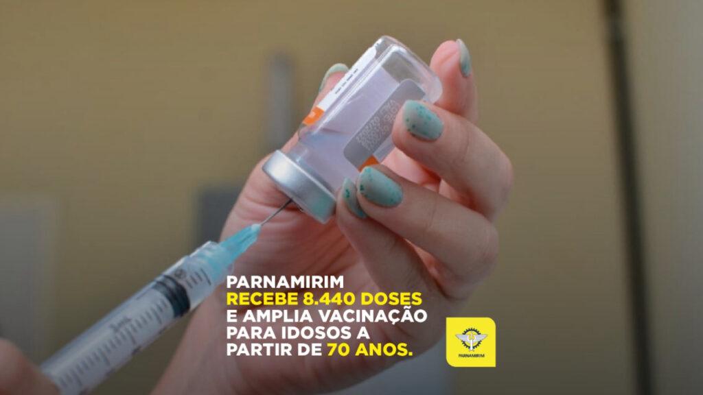 Parnamirim vai iniciar vacinação de idosos a partir de 70 anos