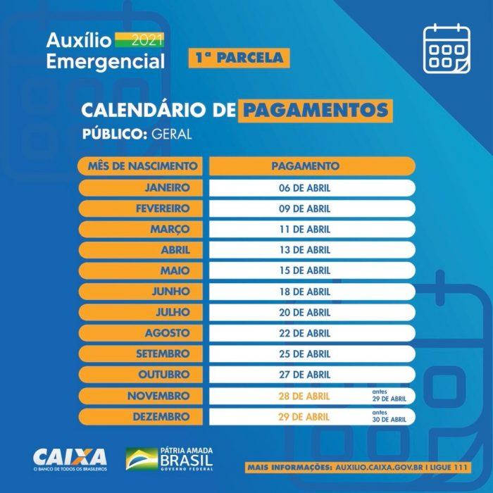 Caixa antecipa calendário de saque da 1ª parcela do auxílio emergencial
