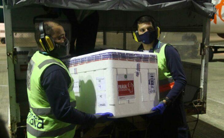 Rio Grande do Norte recebe nova carga com 89 mil vacinas da Covid-19
