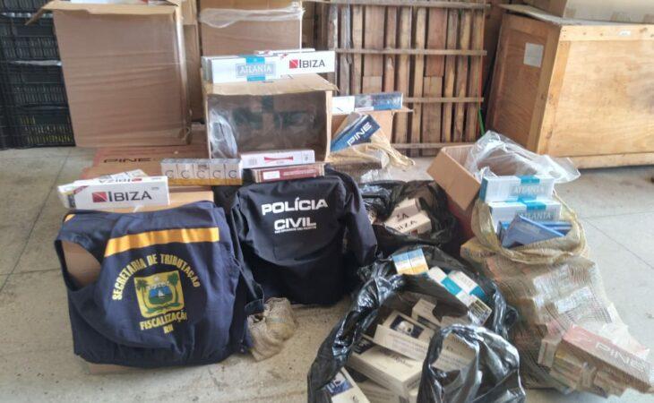SET e Polícia Civil fazem apreensão de 11 mil maços de cigarros na Ceasa