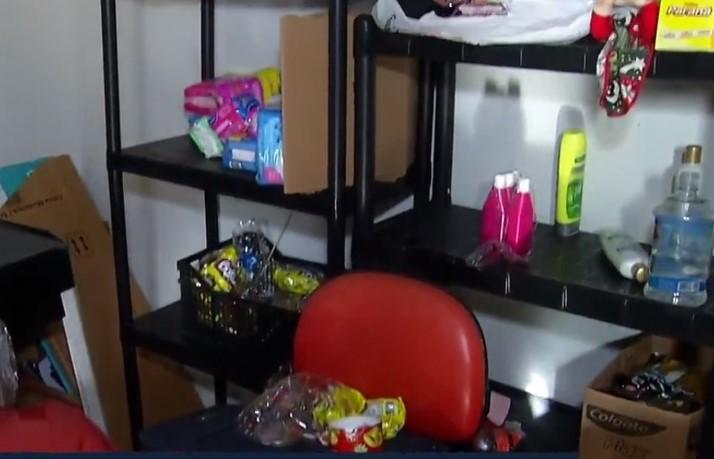 Vagabundos roubam produtos que seriam doados a famílias carentes de Natal