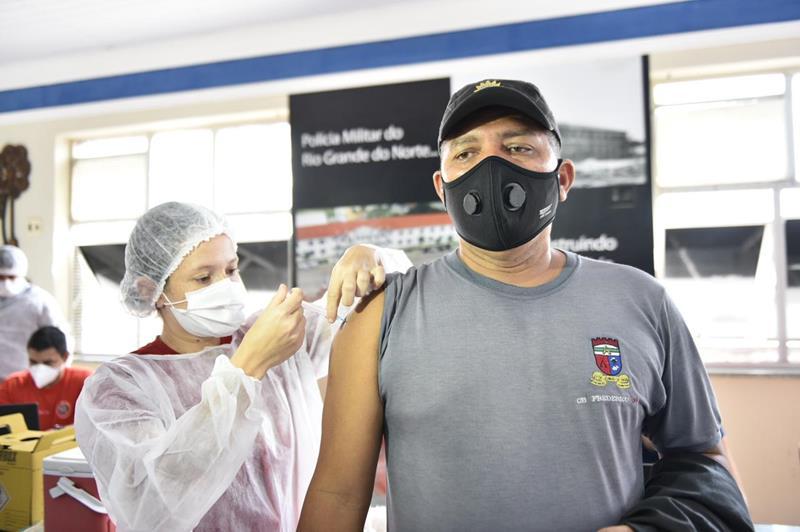 RN inicia vacinação dos agentes de Segurança Pública