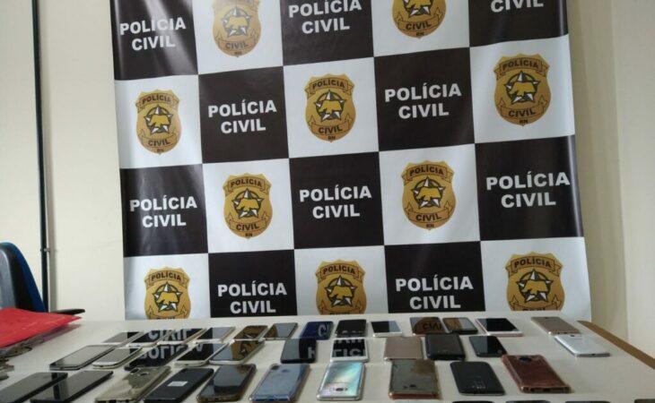 Polícia Civil recupera mais de 50 celulares furtados de depósito judicial em Parnamirim